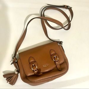 Ralph Lauren NWOT Leather Crossbody Purse Brown
